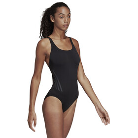 adidas Pro 3-Stripes Swimsuit Dam black/carbon